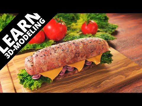 Blender tutorial: Sandwich