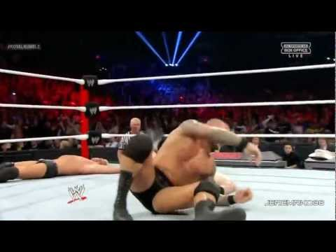 Randy Orton RKO in the Royal Rumble - Royal Rumble 2013 - January 27, 2013