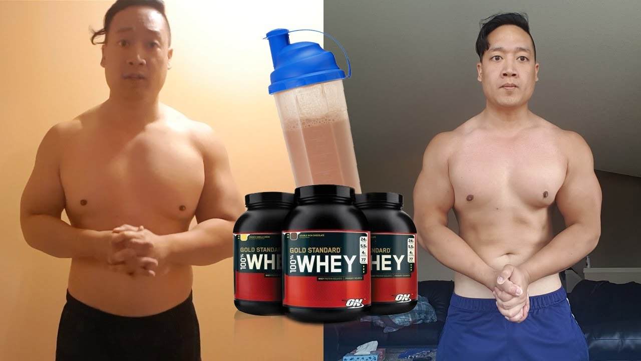 Eating protein shake before workout