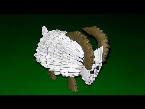 3d origami shaun the sheep sheep ewe ram tutorial doovi