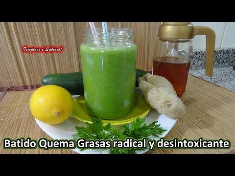BATIDO QUEMA GRASAS Y REDUCTOR DE PESO radical y desintoxicante