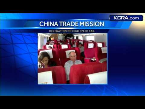 Gov. Brown rides China's high-speed rail