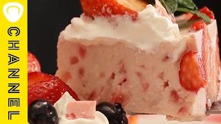 ホワイトチョコのストロベリーレアチーズケーキ いちご、ホワイトチョコ...