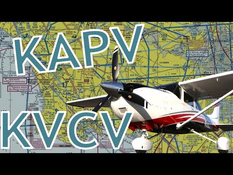 Flying to Apple Valley (KAPV) and Victorville (KVCV) in HD