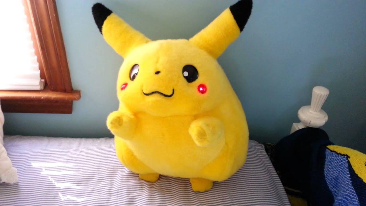 """Giant plush vibrating Pikachu sings """"London Bridge - YouTube"""