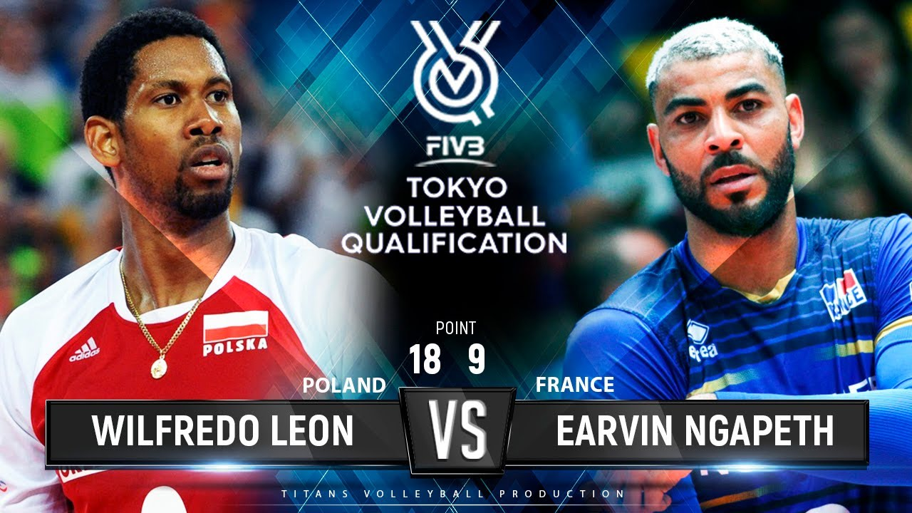 Wilfredo Leon vs Earvin Ngapeth | Poland vs France | Highlights Men's OQT 2019