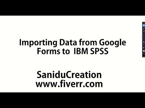 Importing Data from Google Forms to  IBM SPSS-English/Sinhala