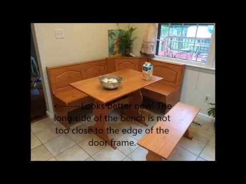 Emily Breakfast Nook Unboxing And Installation Embly Bench Table