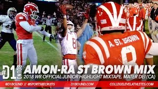 Amon-Ra St Brown 18 WR Official Junior Highlights 60 181 Mater Dei High School