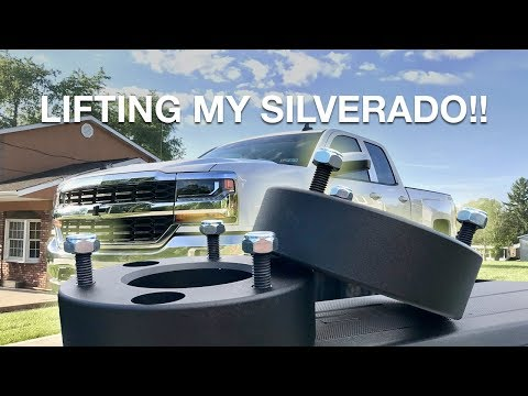 "2.5"" Motofab Leveling Kit Install on my 2018 Silverado!!"