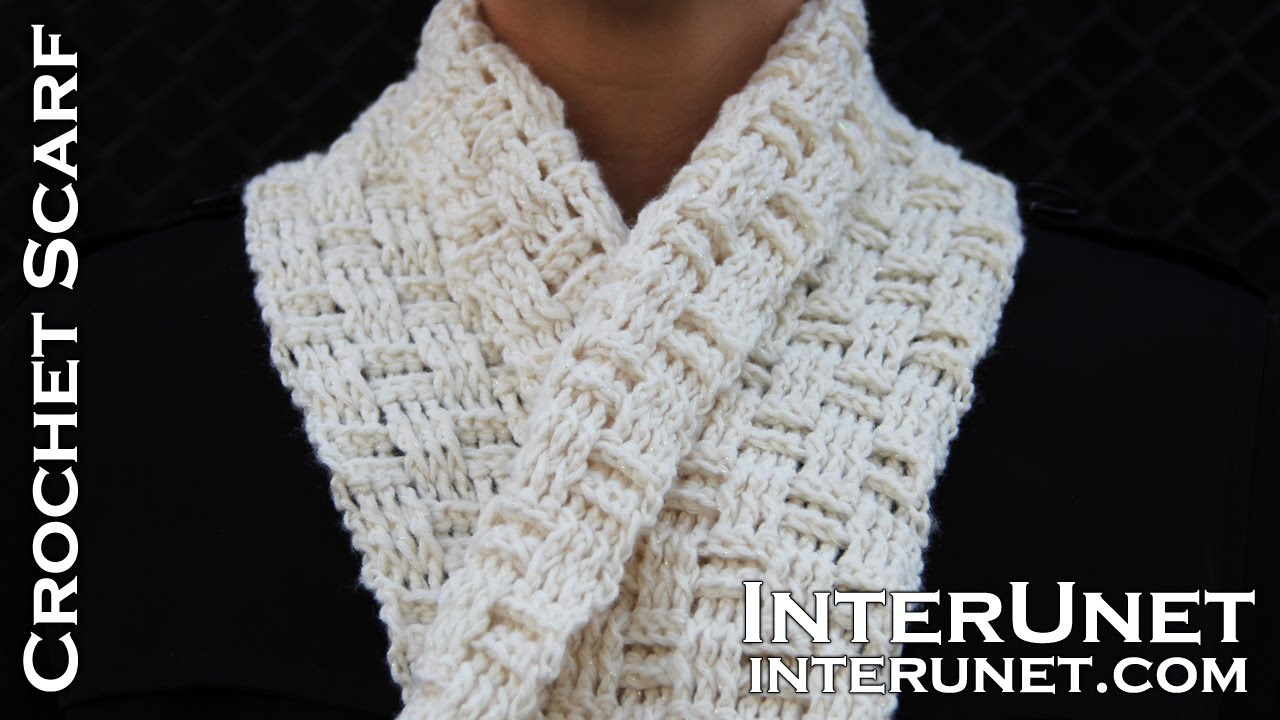 Crochet a scarf - easy for beginners pattern using double crochet ...