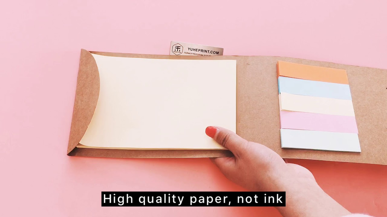 Yuhe Print Rainbow Color Note Book