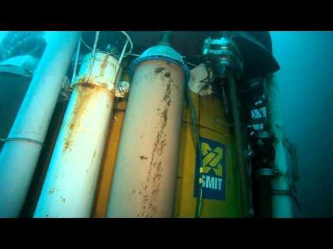 ROV going inside Diving Bell