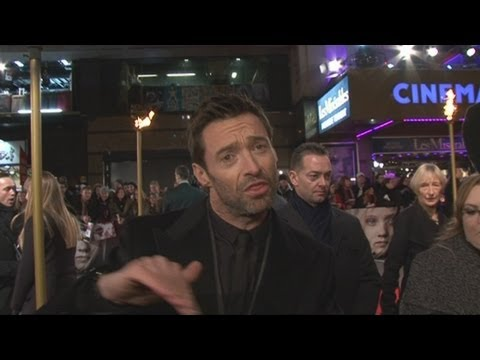 Hugh Jackman rapping at the Les Miserables premiere!