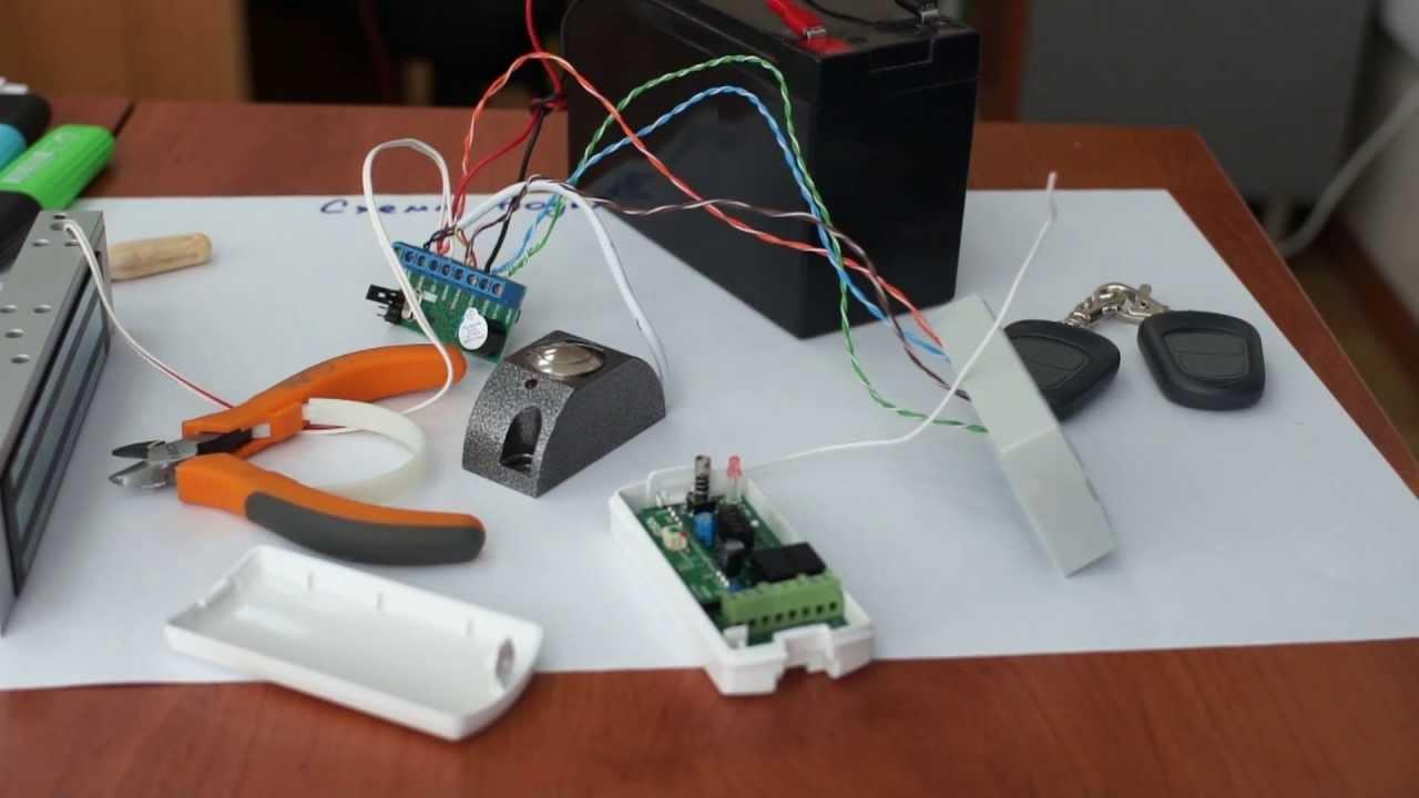 схема расключения видео домофона и котроллера z5-r