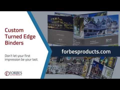 Custom Turned Edge Printed Binders   Forbes Custom Products
