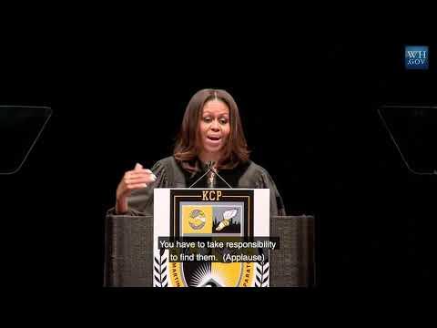 Michelle Obama Addresses King College Prep High School   2015