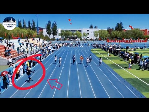 See cameraman, with devices weighing over 4kg, steal the race during campus dash