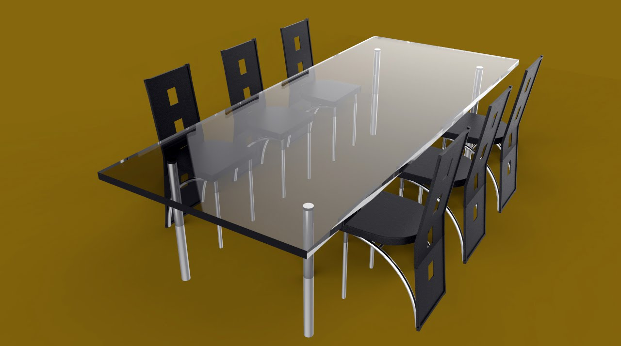 How To Model A Full Dining Table Set In Maya 2016 Full Tutorial
