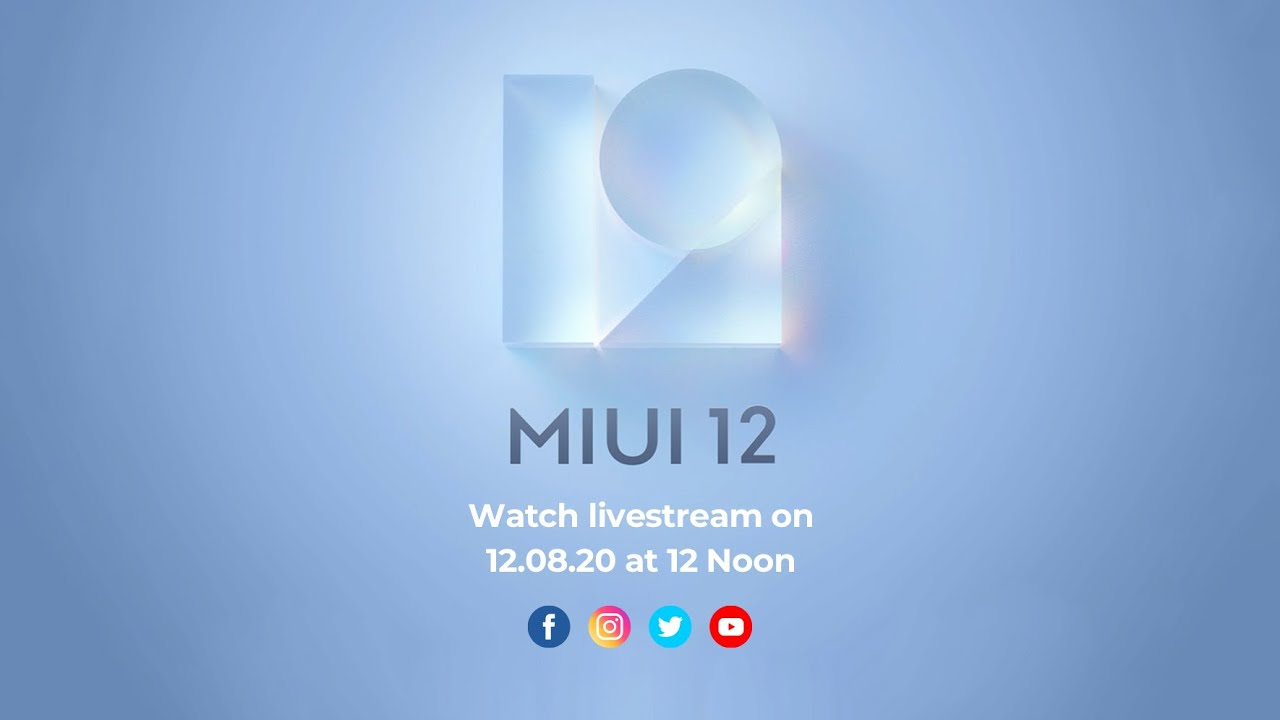 #MIUI12 | Watch the Livestream tomorrow at 12PM