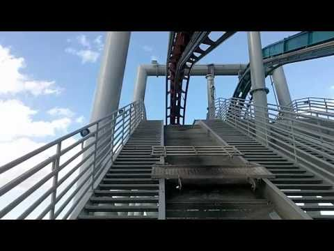 Harry Potter Roller Coaster Front Row POV (Fire Dragon)