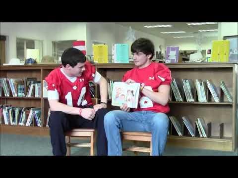 Rabun County High School Wildcat Quarterbacks read for Read Across America 2013