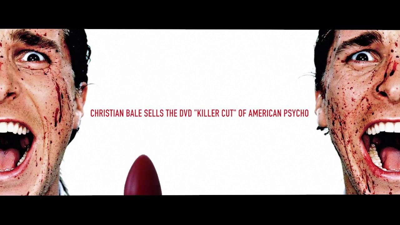 CHRISTIAN BALE. AMERICAN PSYCHO.SPOOF ADVERTISING MOVIE MASHUP ...