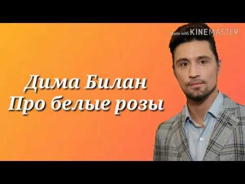 Караоке Дима Билан - Про белые розы (текст песни)