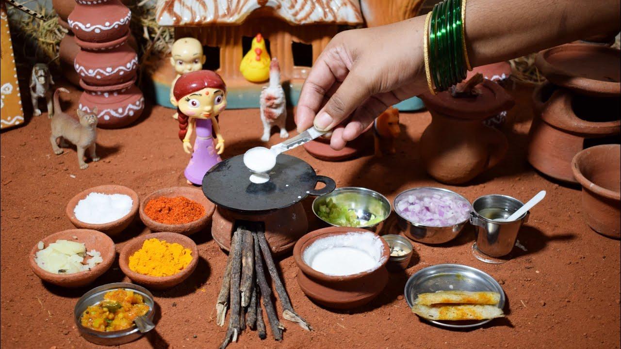 Miniature Masala Dosa | Masala Roast Recipe | Miniature Cooking | The Mini Foods
