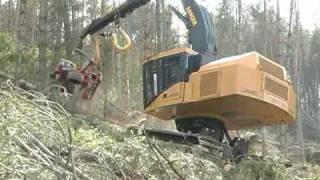 LH845C steep slope harvesting