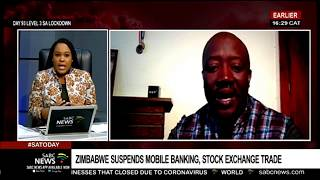 Zimbabwe suspends mobile phone payments and stock exchange trade