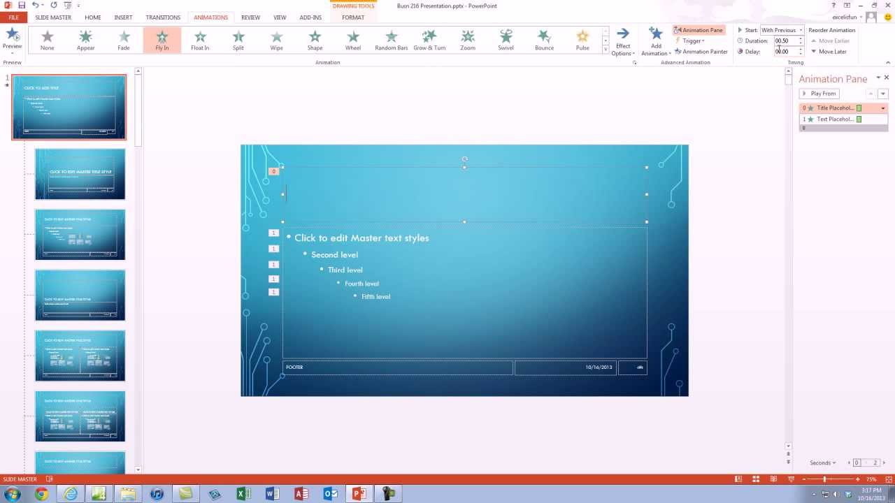 office 2013 class  18  creating a powerpoint presentation