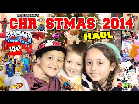 Christmas Haul 2014!! Minecraft, LEGO, Skylanders, BOOM, NERF, Science Experiments + MORE Toys!