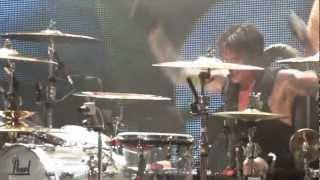 Tommy Lee ( Motley Crue ) playing solo drums upside down, Tampa , July 2012