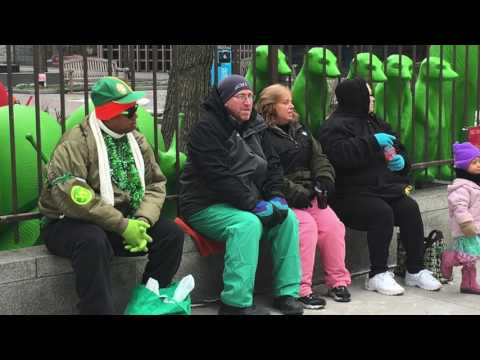 Cleveland Saint Patrick's Day Parade-goers Bundle Up For The Cold