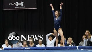 College gymnast's perfect routine goes viral