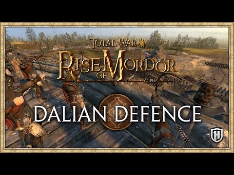 Dalian Defence! | Rise of Mordor City Siege Battle | Dale v Easterlings, Harad & Uruk-Hai
