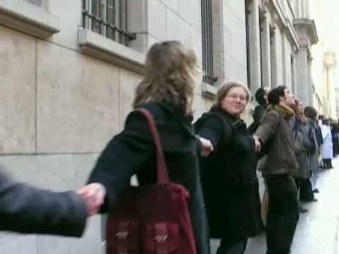 Chaine humaine à la Sorbonne
