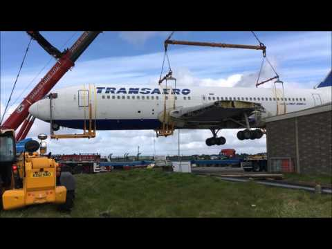 Quirky Night Glamping's Boeing 767's Big Lift