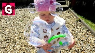 GO Bubbles! Gaby playing with bubble toy