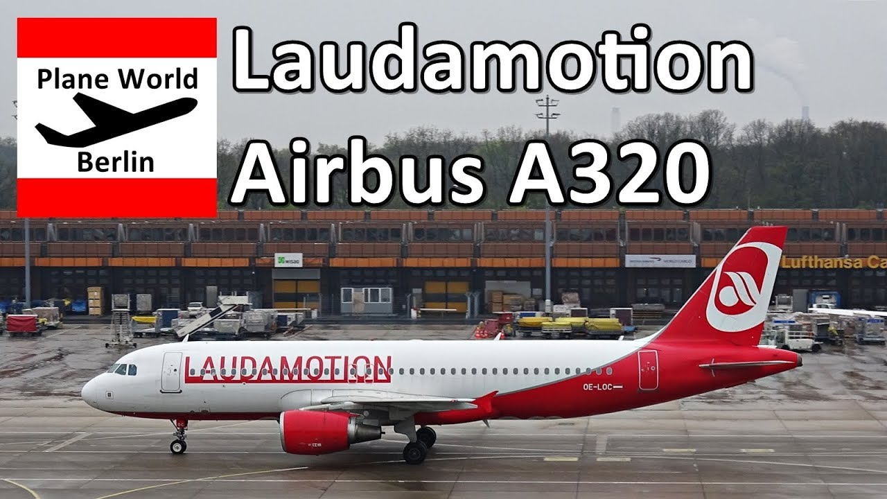 Laudamotion Airbus A320 OELOC takeoff from BerlinTegel