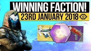 Destiny 2   FACTION RALLY WINNER! Weekly Reset, Milestones, Nightfall & Vendors! (23rd January 2018)