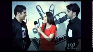 La voz Ecuador- Entrevista Luis Fonsi & Jerry Rivera