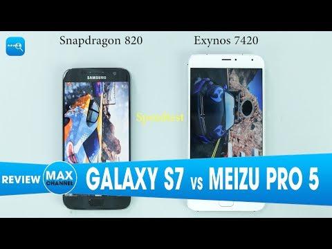 Speedtest Galaxy s7 vs Meizu Pro 5: Kết KHÔNG THỂ TIN NỔI
