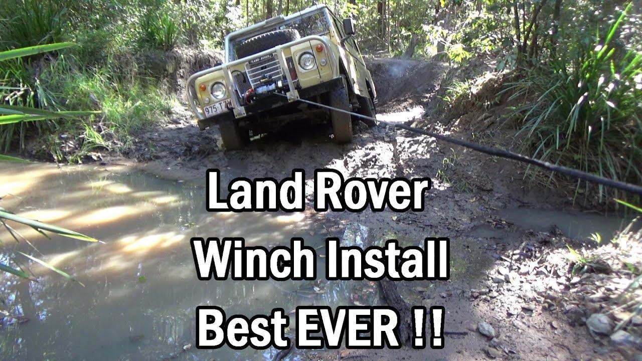 land rover demountable winch install best ever youtubeland rover demountable winch install best ever  [ 1280 x 720 Pixel ]