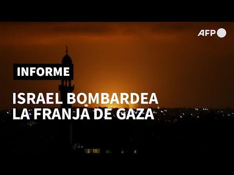 Israel Bombardea Gaza Tras Lanzamientos De Cohetes Contra Su Territorio | AFP