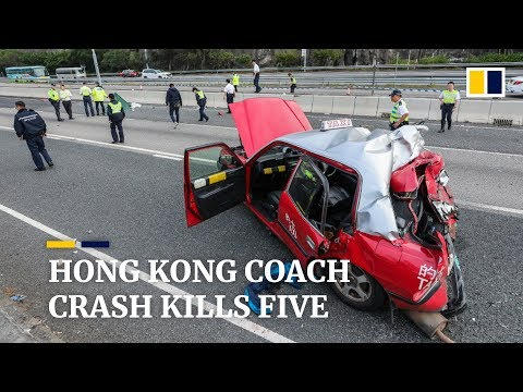 5 killed in Hong Kong coach crash