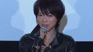 女優の釈由美子さんが6月20日、東京都内で行われた主演映画「KIRI -『職業・殺し屋。』外伝-」(坂本浩一監督)の初日舞台あいさつに劇中で着用したレザーのボディー ...