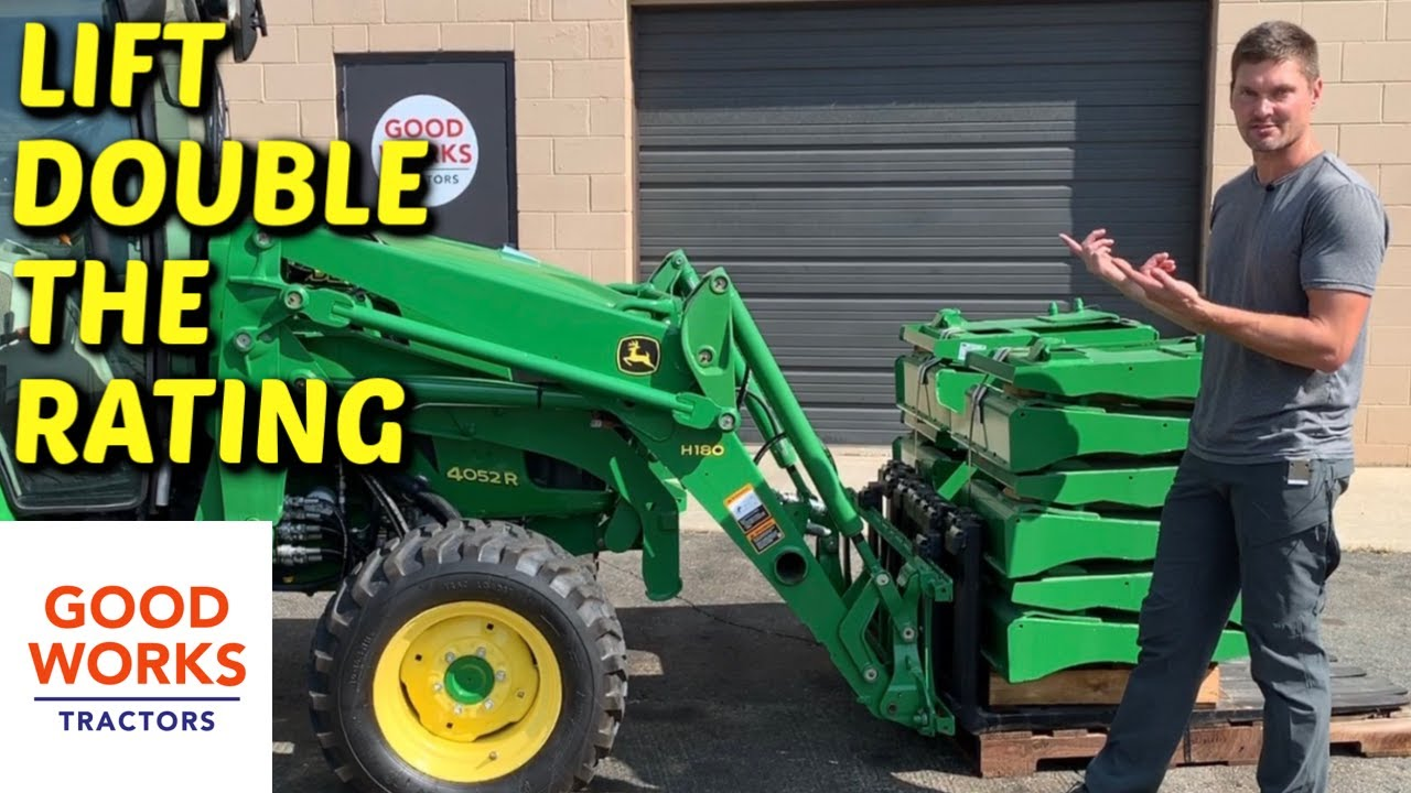 If you have to clear a field, which is the better choice: Tiny Pallet Forks Lift Huge Weight For The John Deere 1025r Youtube