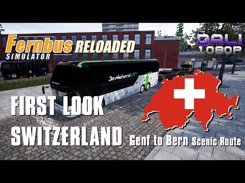 Fernbus Simulator FIRST LOOK AT SWITZERLAND Genf to Bern - Taking the scenic route.